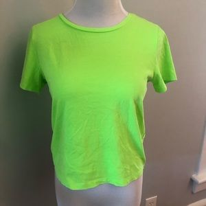 Express Tops - Express Neon Green Cropped Tee